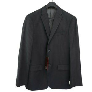 Perry Ellis Mens Charcoal Pinstripe Suit Jacket Ci